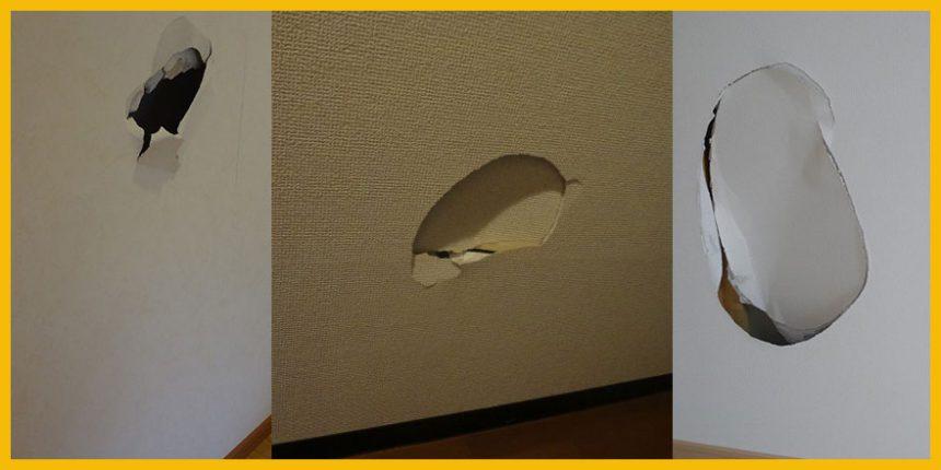 壁穴修理&壁紙一面張替え